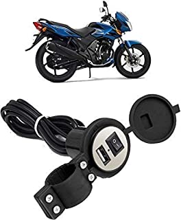 SSM'S Lunched Mobile Phone Motorcycle and Bike USB Waterproof Charger in Round sev for Mobile Holder Charger (Black)