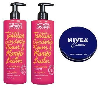 Not Your Mother's 2 Pack Naturals Tahitian Gardenia Flower & Mango Butter Curl Defining Shampoo 16 Oz.+ Travel Size Body Cream 1 Oz.