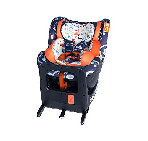 Cosatto RAC Come and Go i-Rotate Baby to Toddler Car Seat - i-Size 0-4 years, ISOFIX, Extended Rear Facing, Anti-Escape (Road Trip)
