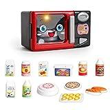 PHYNEDI Bambini Elettrodomestici Giocattolo, Forno a microonde per Bambini Set Cucina Giocattolo con luci, Gioco Educativo Accessori Cucina per Bambini (Forno a microonde)