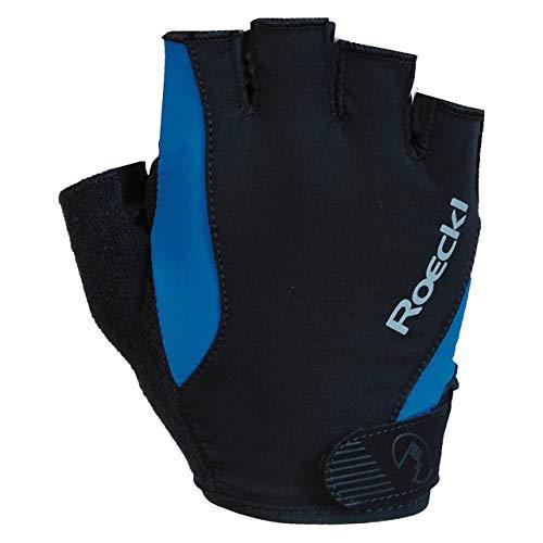 Roeckl Basel Fahrrad Handschuhe kurz schwarz/blau 2020: Größe: 10