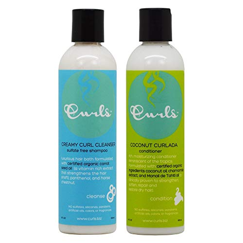 Curls Creamy Curl Cleanser Shampoo & Coconut Curlada Conditioner 8oz Duo 'Set'