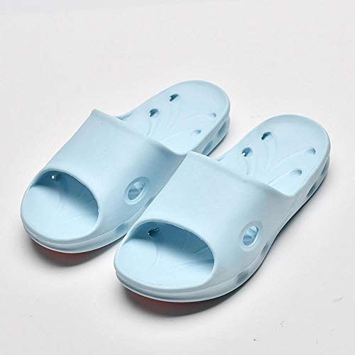 B/H Non Slip Quick Drying Sandals,Massage PVC bathroom non-slip slippers, indoor furniture sandals-Sky blue_UK4.5-UK5,Foot Massage Slippers
