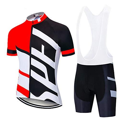 HXTSWGS Conjunto de Jersey de Ciclismo Conjunto de Ropa de Ciclismo de montaña de Carretera de Verano Conjunto de Ropa Deportiva de Bicicleta MTB Ciclismo-A18_M