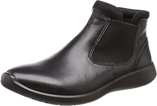 Ecco Damen Soft 5 Chelsea Boots, Schwarz (Black/Black), 38 EU