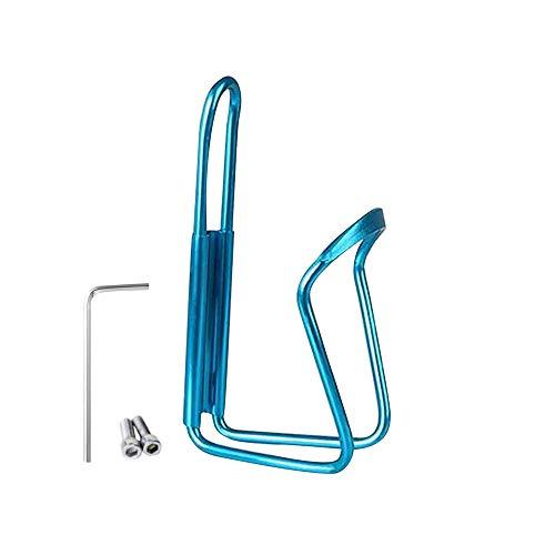 Bestine Fahrrad-Flaschenhalter, Aluminiumlegierung, verstellbar, leicht, für Mountainbike, Rennräder, Hybrid- und Faltrad, Kinder, blau