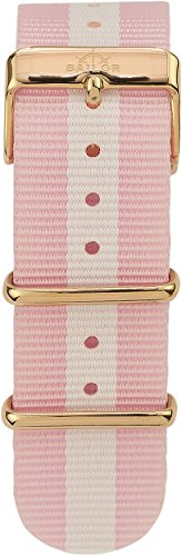 Sailor Damen Herren Nylon Armband Sun rosa-weiß BSL101-2015-20, Breite Armband:20mm (normal), Farbe