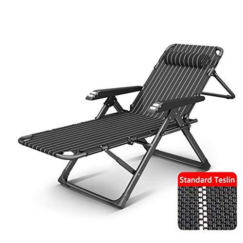 WSDSX Silla Plegable reclinableSun Lounger Silla Zero Gravity, Plegable Reclinable Beach Garden Camping Tumbona Silla con Almohadilla de algodón y reposabrazos de masajeBeach S