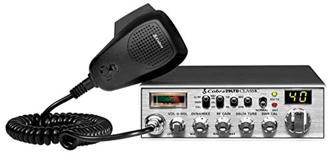 Cobra 29LTD Professional CB Radio - Instant Channel 9, 4 Watt Output, Full 40 Channels, SWR Calibration
