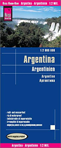 Reise Know-How Landkarte Argentinien / Argentina (1:2.000.000): reiß- und wasserfest (world mapping project)