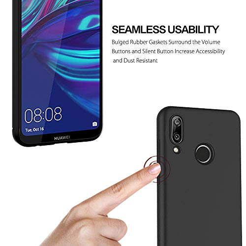 Ferilinso Hülle für Huawei Y7 Prime 2019/ Huawei Y7 Pro 2019/ Huawei Y7 2019, Flexible stoßfeste Schutzhülle für Huawei Y7 Prime 2019/ Huawei Y7 Pro 2019/ Huawei Y7 2019 Hülle (Schwarz) - 3