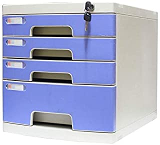 Nologo SH-CHEN Desktop Drawer Sorter Lockable Data Office Storage Drawer Confidentiality Office Desktop Drawer Organizer Blue (11.8in15.8in13in) (Size : 4-Layers) File Cabinets