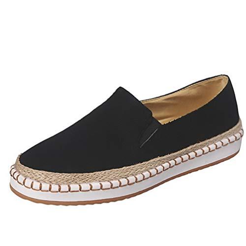 Dames Dikke Sneakers Ondiepe Instappers Loafers Met Ronde Neus Plateauschoenen Casual Comfort Flats Ademende Sneakers Met Sleehak