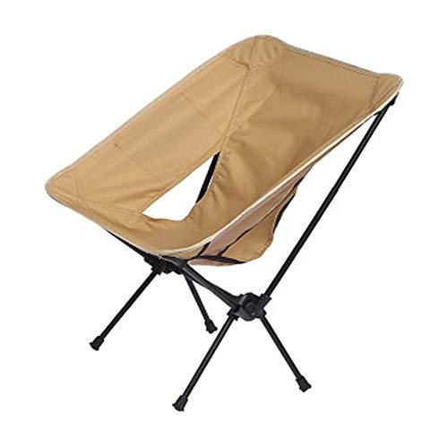 LIONG High Back Chair Folding Camping Chair, Fishing Garden Backpack Outdoor Camping Beach Travel Recliner