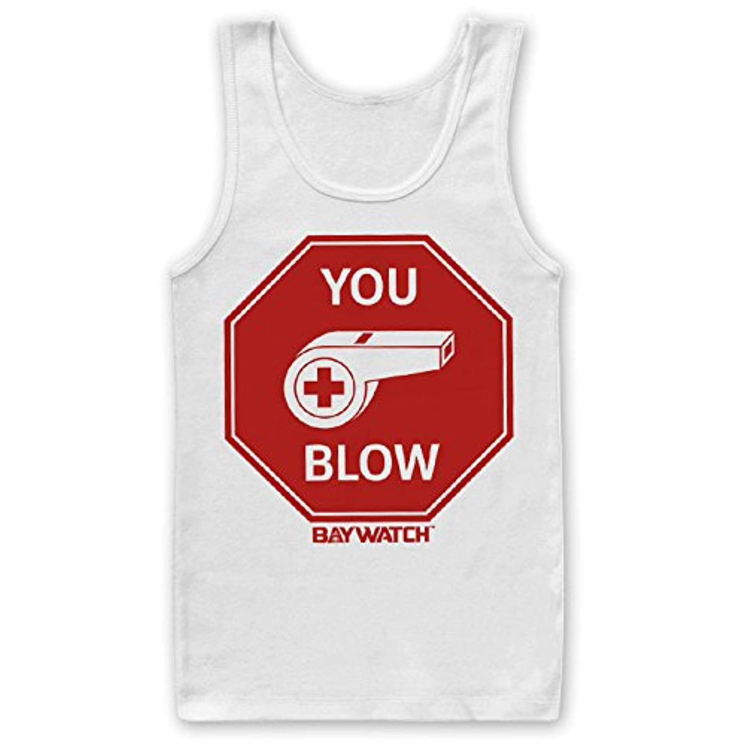 Officially Licensed Baywatch - You Blow Mens Tank Top Vest