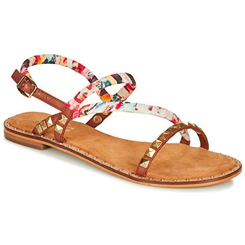 Dockers by Gerli 46li201-470 Sandals Women White/Multi - 8.5 - Sandals Shoes
