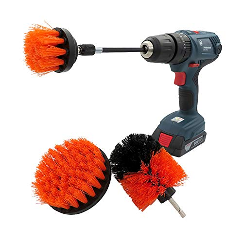 Cepillo de limpieza taladro eléctrico 4 Piezas Del Taladro Cepillo Kit Car...