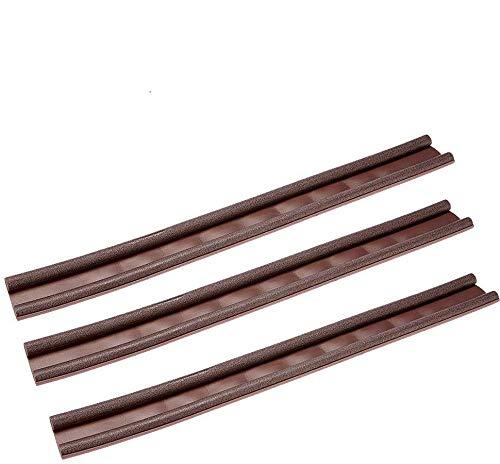 Paraspifferi universali per porte e portoni asta sottoporta doppiolato paraspifferi porta blindata ingresso paraspiffero porta protezione bilaterale - disponibile in due colori (3, Rosa antico)