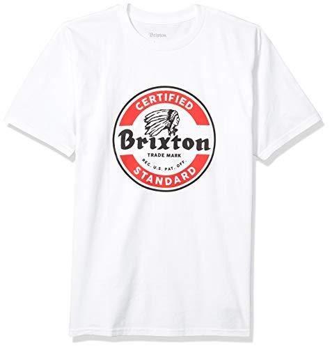 BRIXTON Herren T-Shirt Soto, White/Red, S, BRIMTSSSOT