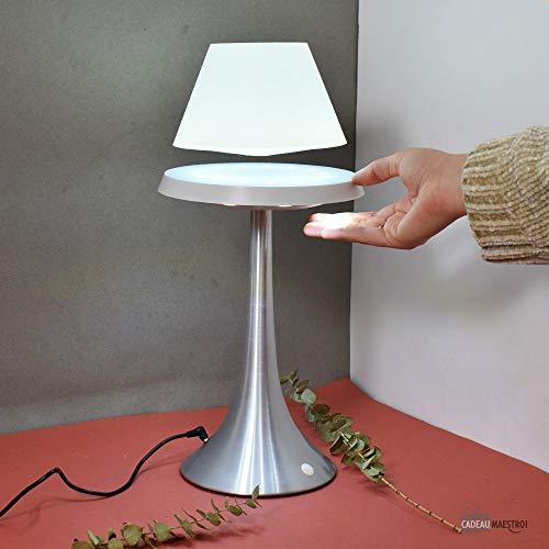 Lampe anti-gravité ALTHURIA PureLine BLANCHE - Pied Alu - Blanc