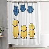 Minions Duschvorhang Animation Duschvorhang Cool Duschvorhang Mode Einfach Badezimmer Partition Badbedarf 152 x 183 cm