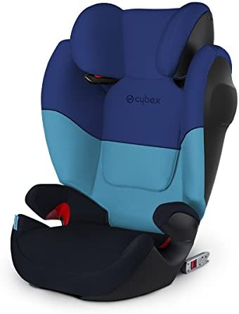 Cybex Silver Solution M-Fix SL Child's Car Seat, High Back Booster, with Adjustable Headrest and ISOFIX Compatible, Group 2/3 (15-36 kg), From Approx 3-12 Years, Purple Rain