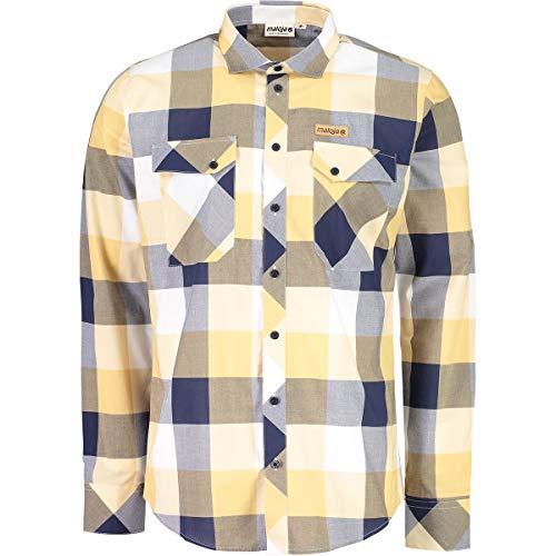 Maloja melcherm. Hemd und T-Shirt, Herren M blau (Mountain Lake)