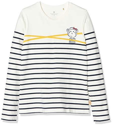 Bellybutton mother nature & me Mädchen 1/1 Arm T-Shirt, Mehrfarbig (Y/D Stripe|Multicolored 0001), (Herstellergröße: 128)