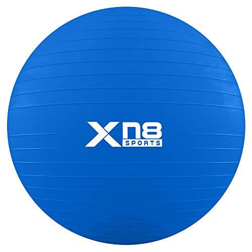 Xn8 Palla Pilates Anti-Scoppio con Pompa Palla Yoga Palla Swiss per Pilates Esercizio Fisico Fitness Gravidanza Terapia Ginnastica Formazione a Casa -55cm/65cm/75cm/85cm