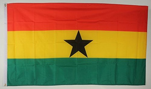 Flagge Fahne Ghana 90x60 cm wetterfest und lichtecht für innen und aussen