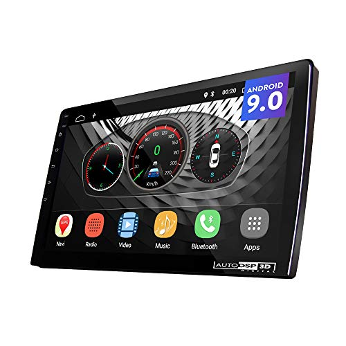 UGAR 9' EX9-S-DSP Universal Extended Version Car Stereo 2GB 16GB Android 9.0 DSP Head Unit Double Din Touch Screen Radio Auto Car Audio Indash GPS Navigation with Bluetooth WiFi Mirroring …
