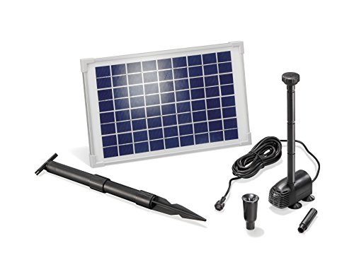 Solar Teichpumpe 10 Watt Solarmodul 610 l/h Förderleistung 1,5 m Förderhöhe Komplettset Gartenteich, 101013