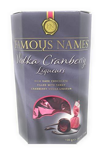 Famous Name Dark Chocolate Vodka Cranberry Liqueurs 198grams