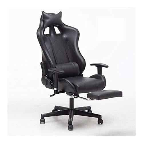 Silla de Oficina cómoda Asiento Regulable Gaming Chair reposacabezas reclinable Silla ergonómica de Oficina con Silla de Respaldo Alto con reposapiés Soporte Lumbar Altura f