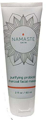 Namaste Skin Purifying Activated-Charcoal Probiotic Masque for Facial Tightening, Hydration & Pore Reduction. Reduce Redness, Clear Blemishes & get Silky Smooth Feel - 60ml Tube, USA Made & Vegan