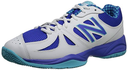 New Balance Women's 696 V1 Tennis Shoe, Blue/White, 7 B US