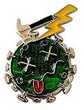 Eurofusioni Imán frigorifico Coronavirus Verde en Metal Cromado - Gadget Amuleto de la Suerte - Cuarentena Regalos - Memoria de Covid-19 - Joya Artesanal