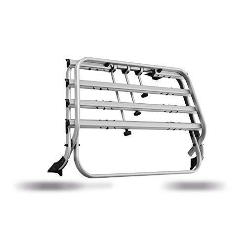 Volkswagen 7E0071104B Fahrradträger Heckträger, für bis zu Vier Fahrräder, auch für elektrische Heckklappe Komfort (PR-Code 3RP), Silber
