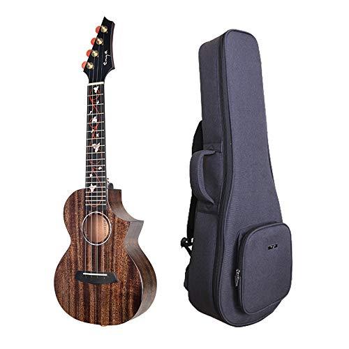 Enya EUC-M6 Concert Ukulele NEW Dark Brown Color All AAA Solid Mahogany Wood Ukulele with Padded Ukulele Bag