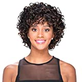 Deep Curly Wig Short Curly Deep Loose Human Hair Wig Soft Remy Hair Grade 8A None Lace Wig on Sale for Women Color Red Mixed