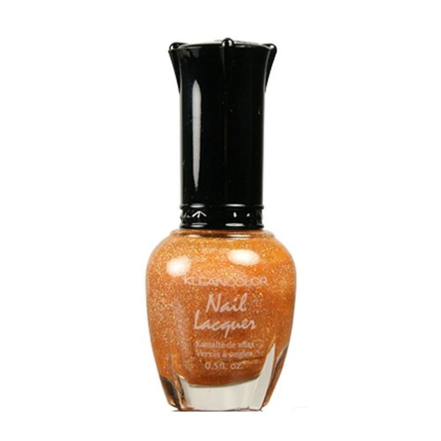 分割始める反響するKLEANCOLOR Nail Lacquer 3 - Holo Orange (並行輸入品)