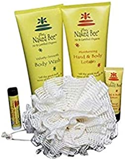 Naked Bee Deluxe Full Size Bath & Body Care 5 Piece Gift Set - Body Wash, Lotion & More