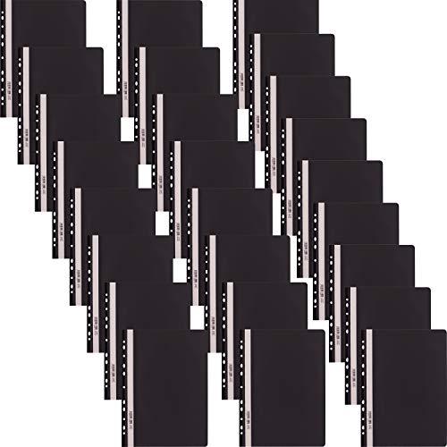 D.RECT snelhechter Lux PP A4 met perforatie van sterke polypropyleen folie zwart 25 stuks