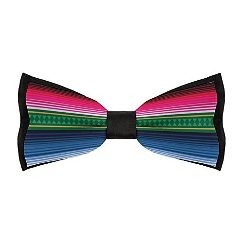 Pajaritas preatadas para hombre, ajustable, elegante, para bodas, fiestas, accesorios de negocios (manta tradicional mexicana)