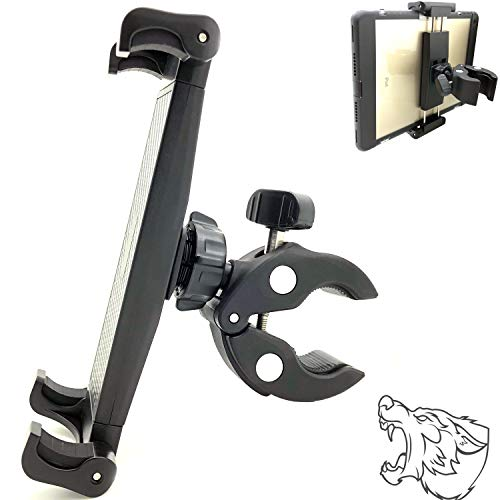 """Lycan Series Marine Boat Tablet & Smartphone Pole Handle bar Boat Helm Rail Holder Mount for i Pad Pro 12.9 10.5 9.7 Air Mini Phone 12 11 XR XS X GalaxyTab S10 S20 Note Surface Pro 12"""" Tablets"""