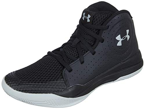 Under Armour Unisex-Kinder UA GS Jet 2019 Basketballschuhe, Schwarz (Black/Black/Halo Gray (001) 001), 40 EU