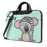 Sleeping Koala Cap Unisex Laptop Bag Messenger Bolsa de Hombro para computadora Maletín Funda de Transporte