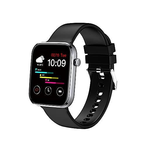 MISIRUN Smartwarch, 1.69Inch Reloj Inteligente con Oxígeno Sanguíneo Presión Arterial Pulsómetros, Podómetro Pulsera Actividad, Impermeable IP67 Mujer Hombr Reloj Deportivo para Android iOS (Negro)