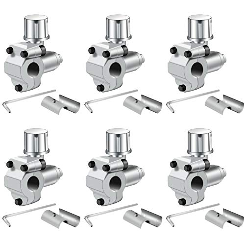 Trounistro 6 Pack BPV-31 Bullet Piercing Valve Line Tap Valve Kits Adjustable Valve for Air Conditioners HVAC 1/4