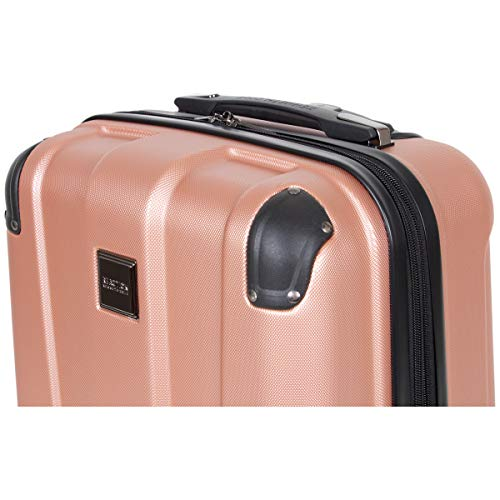Kenneth Cole Reaction Continuum Hardside 8-Wheel Expandable Upright Spinner Luggage, Rose Gold, 3-Piece Set (20